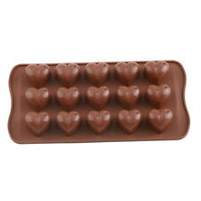 15 Silicone Ice Cube Chocolate Cake Jelly Tray Pan Heart Maker Mold Mould UR