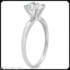 Tammy 1.00CT ROUND Diamond VVS1 14K White GOLD Solitare Engagement Wedding Ring