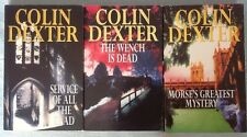 3 DETECTIVE MORSE NOVELS  by Colin Dexter - MORSE'S GREATEST MYSTERY,  ETC