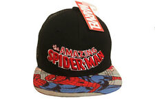 THE AMAZING SPIDER-MAN BLACK SNAPBACK HIP HOP HAT CAP .. NEW