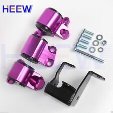 Engine Motor Mounts For Honda Civic 1996-2000 EK D16 B16 B18 B20 2 Bolts Purple