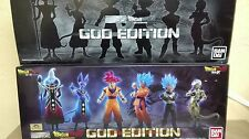 DRAGON BALL Z HG GOD EDITION BANDAI FIGURE FIGURA NUEVA NEW FULL SET