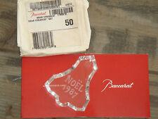 Cristal décoratif Harcourt collector Noël 1987 BACCARAT NEUF et signé