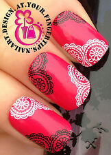 NAIL ART WRAP WATER TRANSFERS STICKERS DECALS BLACK WHITE DECORATION LACE #77