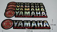 5x New YAMAHA FACTORY RACING  Foil  Motocross   Decals Sticker Red