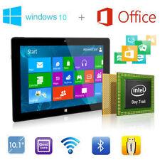 "10.1""inch Windows 10 Intel Quad Core Tablet PC IPS Microsoft Office 365 WIFI 16G"
