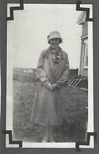 VINTAGE OLD FLAPPER GIRL HAT COAT NYOLNS SHOES FASHION MAINE MOXIE COVE PHOTO