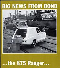Bond 875 Ranger Van 1967-68 UK Market Foldout Sales Brochure