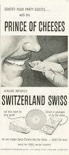 1958 Switzerland Swiss Cheese Moustach Man PRINT AD
