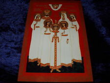 "ORTHODOX RUSSIAN ICON - LAST RUSSIAN EMPEROR WITH FAMILY;6""x 9""/15cm x 22,5cm/."