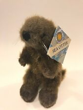 "Smithsonian Oceanic Collection Sea Otter Plush 8"" Stuffed Animal Brown 2008 NEW"
