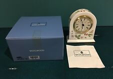 Wedgwood Dome Wild Strawberry Clock Working Mint In Box