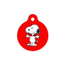 SNOOPY SLEEPING Dog Cat Name Pet ID Tag Engraved Personalized Key Ring