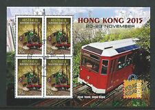 AUSTRALIA 2015 HONG KONG 2015 TRAINS, TRAMS FINE USED