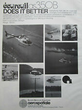 10/1981 PUB AEROSPATIALE AS 350B ECUREUIL HELICOPTER PHI OFFSHORE ORIGINAL AD