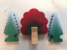 Thomas & Friends Wooden Train Accessories Red Autumn Tree Green Snow Covered Lot
