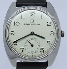 VINTAGE Universal Geneve FS Italian Railroad Mens 35mm Steel Manual Watch cal.64