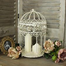 Métal crème décorative cage d'oiseau bougeoir fleur gâteau présentation