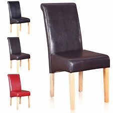 Vital Dining Chairs Faux Leather Dining Room Furniture 2 4 6 8