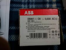 ABB DIFFERENZIALE MAGNETOTERMICO DS951 C6 0,03A AC EB 1351