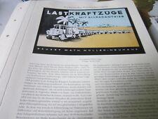 Nutzfahrzeug Archiv 2 Entwicklung 2055 Müller Neuihaus Lastkraftzüge Allrad