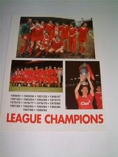 LIVERPOOL FC IAN RUSH RON YEATS ALAN HANSEN LAWLER DAVID FAIRCLOUGH HAND SIGNED