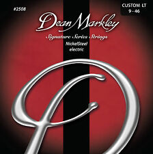Dean Markley 2508 Nickel Steel Electric Guitar Strings 9-46 custom light gauge
