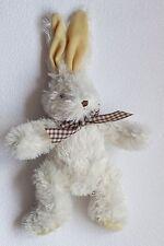 G. Wurm Hase weiß Bunny karierte Fliege - zur Ohrenspitze 41 cm * Granulatpopo *