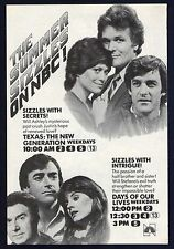 1982 Tv Ad~DAYS OF OUR LIVES SOAP OPERA~The Passion of a Half Brother and Sister
