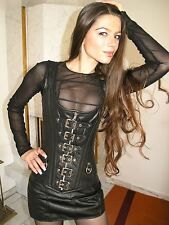 GENUINE Leather Gothic Corset Basque black 4XL Real Leather Leather corset G107