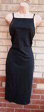 BOOHOO SEXY BLACK MESH SEE THORUGH DETAIL PENCIL BODYCON PARTY TUBE DRESS 12 M