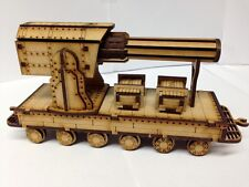 TTCombat - Old Town Scenics - Steam Train Gun Carriage - Great for Malifaux