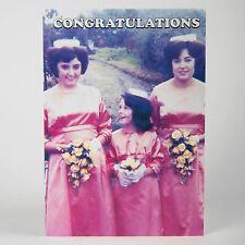 Boda felicitaciones tarjeta de saludos-Funny Humor Retro Dama # 50