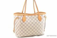 Authentic Louis Vuitton Damier Azur Neverfull PM Tote Bag N51110 LV 26957