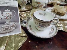 edle Kaffeetasse mit Untertasse Kaffeegedeck Wedgwood Kutani Crane