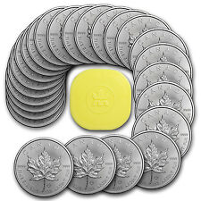 2016 Canada 1 oz Silver Maple Leaf Coins (Lot, Roll, Tube of 25) - SKU #95430
