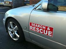 Magnetic sign SEARCH & RESCUE RED Background with White text vehicle signage