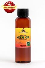 NEEM OIL UNREFINED ORGANIC CARRIER COLD PRESSED VIRGIN RAW PURE 2 OZ