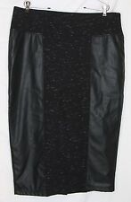 Melissa McCarthy Seven7 black pencil skirt 2X plus space dye ponte stretch