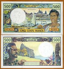 French Pacific Territories,  500 Francs ND (1992) P-1, UNC