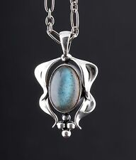 GEORG JENSEN Sterling Silver Pendant Of The Year 2015 with Labradorite. NEW.