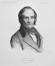 Lithographie XIXème - Casimir Delavigne - Henry Scheffer - Alophe