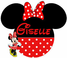 DISNEY PRINCESS MINNIE MOUSE PERSONALIZED TSHIRT IRON ON CUSTOMIZED TRANSFER 034