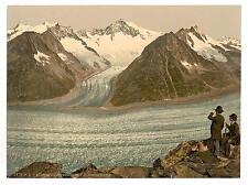 Eggishorn Grand Aletsch Glacier Valais8 Alps Of8 A4 Photo Print