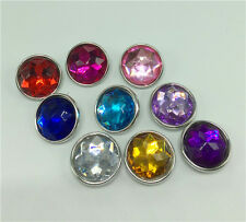 6pcs Mixed color 18mm snaps Chunk Button FIT For NOOSA Charm Leather Bracelets