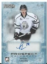 2014-15 ITG Leaf Heroes & Prospects PASCAL LABERGE 51/80 Prospect Autograph #72