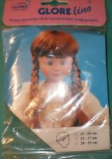 "doll wig dark brown 7,5"" to 8"" Glorex/Switzerland"