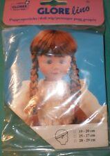 """doll wig dark brown 7,5"""" to 8"""" Glorex/Switzerland"""