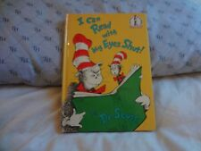 I CAN READ WITH MY EYES SHUT!  BY DR. SEUSS . HC . 8.75 X 6.25
