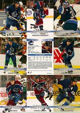 2003-04 ITG In The Game Action Vancouver Canucks Complete Team Set (20)